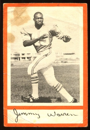 Jim Warren 1967 Royal Castle Dolphins football card