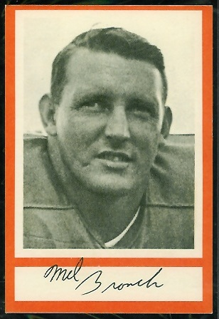 Mel Branch 1967 Royal Castle Dolphins football card