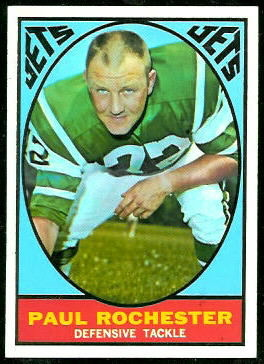 Paul Rochester 1967 Topps football card
