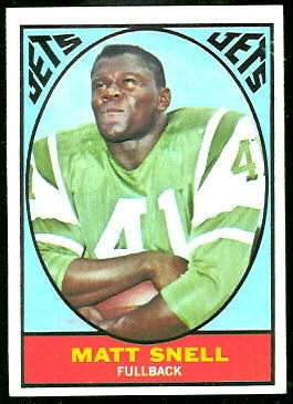 Matt Snell 1967 Topps football card