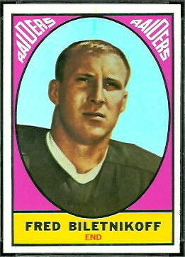Fred Biletnikoff 1967 Topps football card