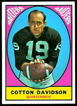 Cotton Davidson 1967 Topps football card