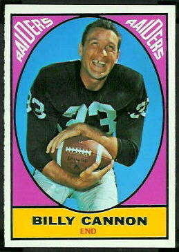 Billy Cannon 1967 Topps football card