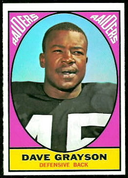 Dave Grayson 1967 Topps football card