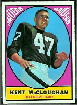 Kent McCloughan 1967 Topps football card
