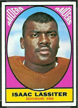 Ike Lassiter 1967 Topps football card