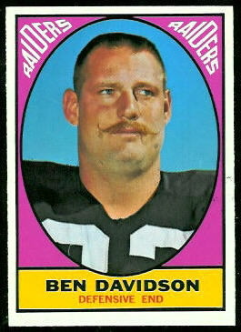 Ben Davidson 1967 Topps football card