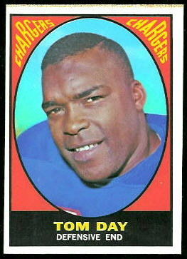 Tom Day 1967 Topps football card