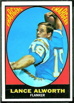 Lance Alworth 1967 Topps football card