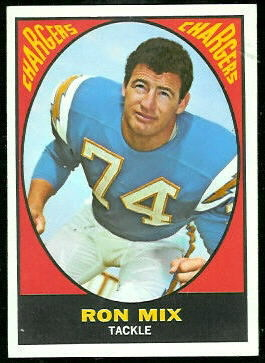 Ron Mix 1967 Topps football card