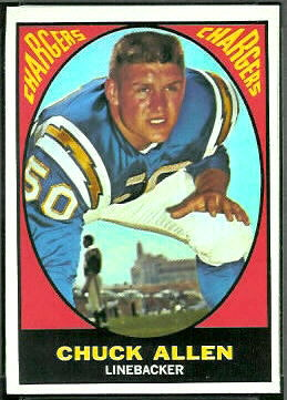 Chuck Allen 1967 Topps football card