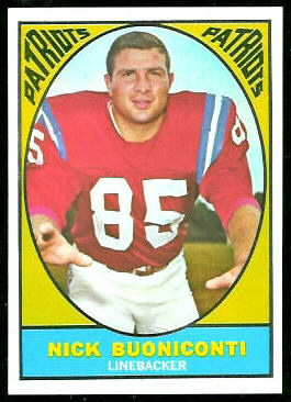 Nick Buoniconti 1967 Topps football card