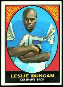 Speedy Duncan 1967 Topps football card