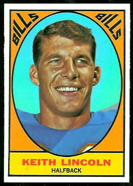 Keith Lincoln 1967 Topps football card