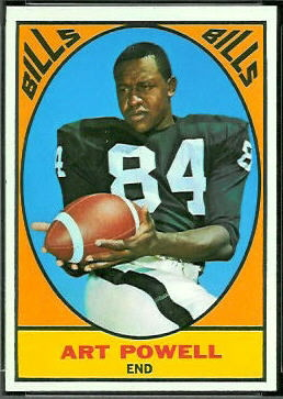 Art Powell 1967 Topps football card
