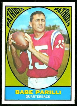 Babe Parilli 1967 Topps football card