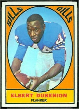 Elbert Dubenion 1967 Topps football card