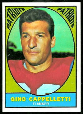 Gino Cappelletti 1967 Topps football card