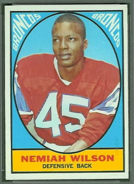 Nemiah Wilson 1967 Topps football card
