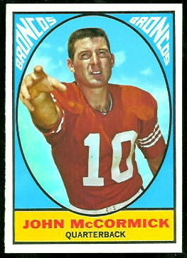 John McCormick 1967 Topps football card