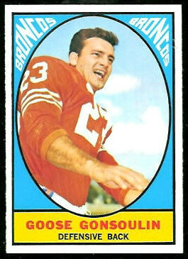 Goose Gonsoulin 1967 Topps football card