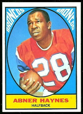 Abner Haynes 1967 Topps football card