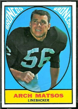 Archie Matsos 1967 Topps football card