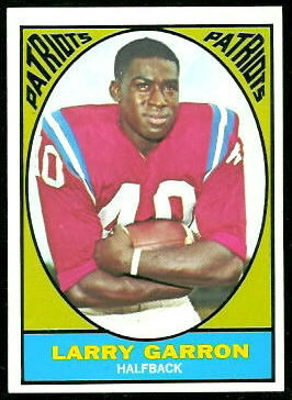 Larry Garron 1967 Topps football card