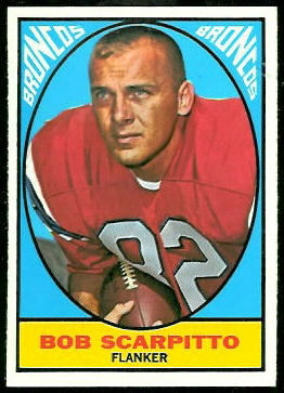 Bob Scarpitto 1967 Topps football card