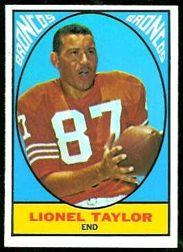 Lionel Taylor 1967 Topps football card