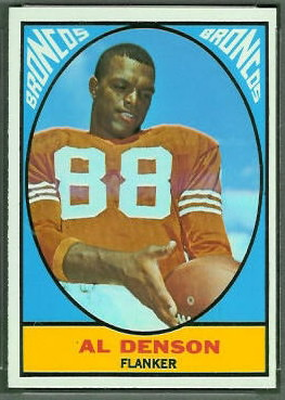 Al Denson 1967 Topps football card