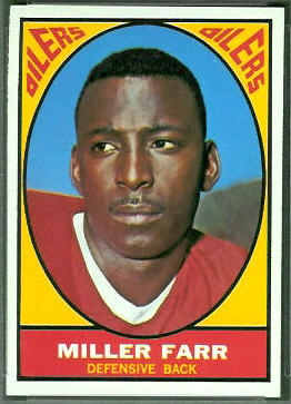 Miller Farr 1967 Topps football card