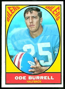 Ode Burrell 1967 Topps football card