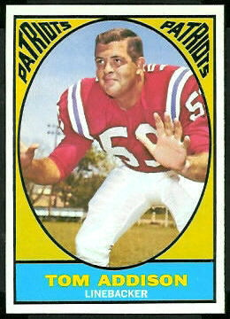Tommy Addison 1967 Topps football card