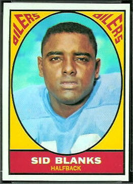 Sid Blanks 1967 Topps football card