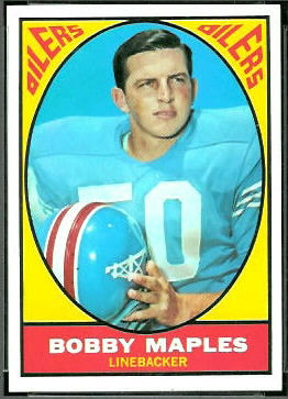 Bobby Maples 1967 Topps football card