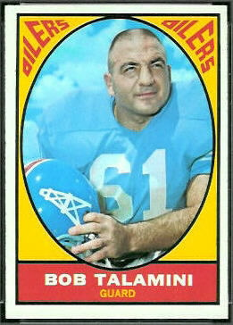 Bob Talamini 1967 Topps football card