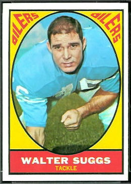 Walt Suggs 1967 Topps football card