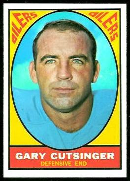 Gary Cutsinger 1967 Topps football card