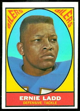 Ernie Ladd 1967 Topps football card