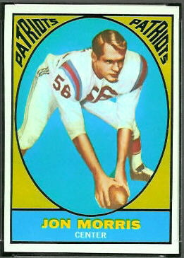 Jon Morris 1967 Topps football card