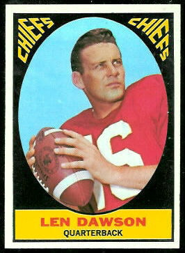 Len Dawson 1967 Topps football card