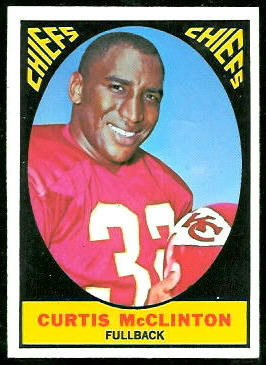 Curtis McClinton 1967 Topps football card