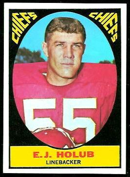 E.J. Holub 1967 Topps football card