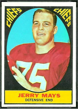 Jerry Mays 1967 Topps football card