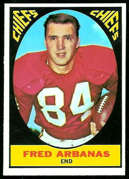 Fred Arbanas 1967 Topps football card