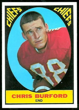 Chris Burford 1967 Topps football card