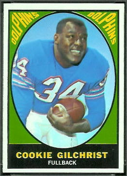 Cookie Gilchrist 1967 Topps football card