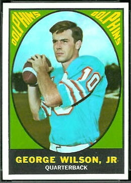 George Wilson Jr. 1967 Topps football card