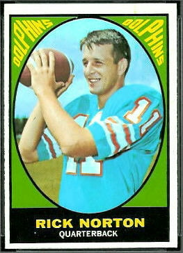 Rick Norton 1967 Topps football card